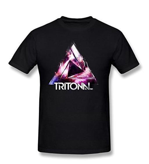 2018 Летние футболки для мужчин Мужские футболки с логотипом Tritonal Черный Новая мода Мужская футболка с коротким рукавом Футболки из хлопка
