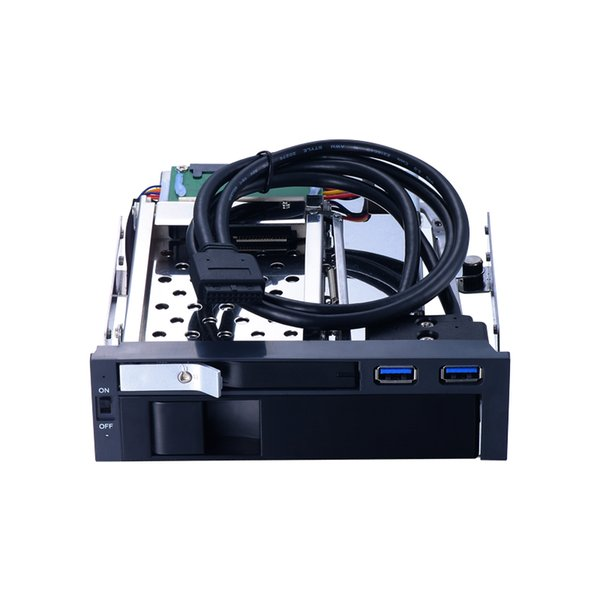 Uneatop 5.25 inch SATA internal lock hdd mobile rack with two USB3.0 port hdd enclosure with hot swap for optical pc bay space