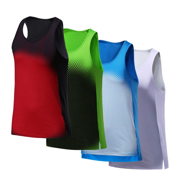 Vest Men Running Sexy Exercise Workout Sleeveless Top Sports Vest Men Top Singlet Fitness Dry Quick Running Yoga Tshirts
