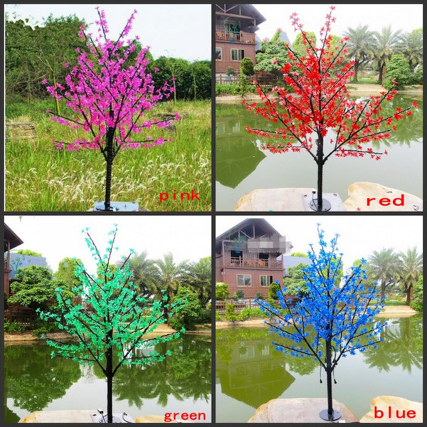 1.5M 5.5ft Height LED Artificial Cherry Blossom Trees Christmas Light 480/576pcs LED Bulbs 110/220V Rainproof fairy garden decor