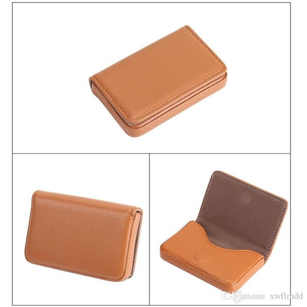 Free shipping New Women Men Business ID Credit Card Holder Fashion Brand Metal Aluminum Card Case PU Leather Name Holder