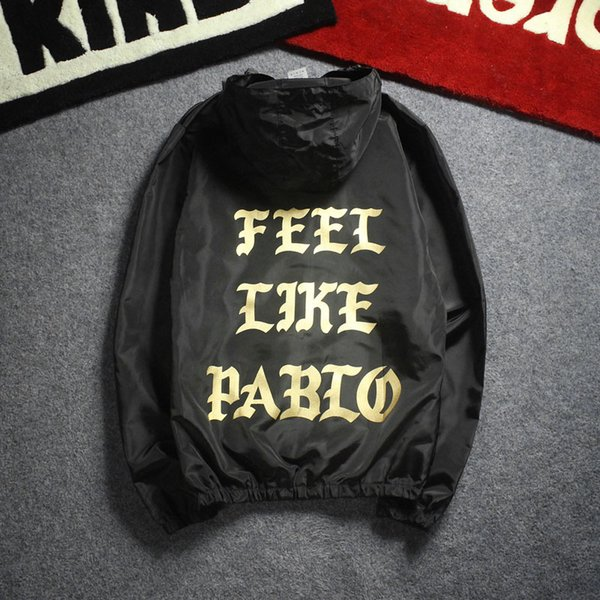 I Feel like Pablo Jackets KANYE WEST Sun-protective Windproof Pablo Jacket 18 Spring Rainproof Sunproof I Feel like Jacket