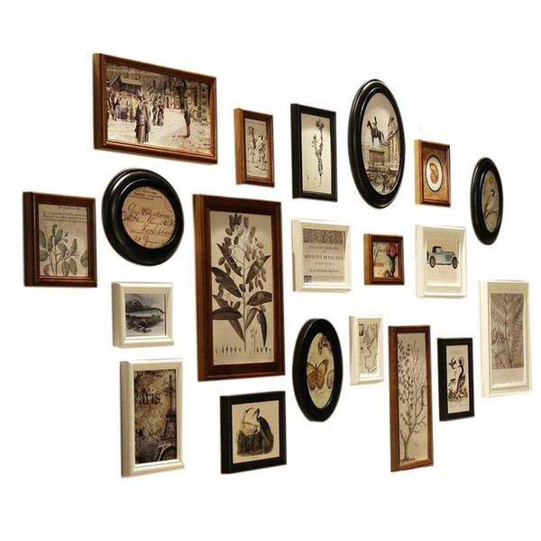 20 Photo Frame Wall Gallery Kit Includes: Frames,Gallery Wall Frame Set,Perfect Frame,Art Painting Core,Home and Wall Decorations