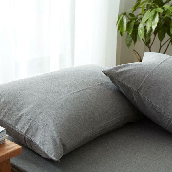 Japanischen Stil Solide Wosingmyeon Kissenbezug Hotel / Bettwäsche Kissenbezug Sham Einzel Kissenbezug Twill 100% Waschbaumwolle Kissenbezug