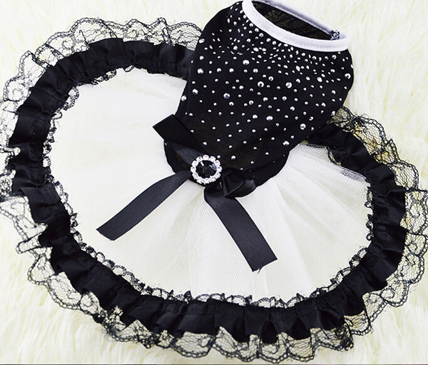 Puppy Dog Dress Howstar Polka Dot Pet Fashion Apparel Costume Coats Harnesses for Girl Yellow Chihuahua Wholesaling Skirts for Medium Dogs