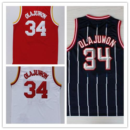 ead7abe9b Best Quality Men's 34 Hakeem Olajuwon Jersey Stitched Olajuwon Basketball  Jerseys 100% Embroidery Logo Wholesale
