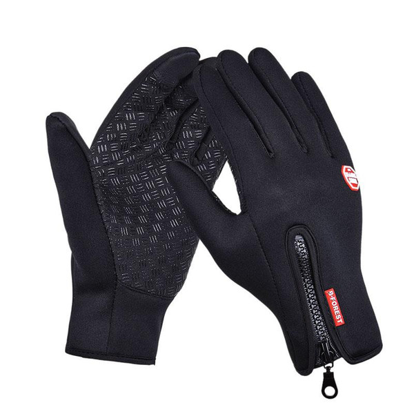 best selling Outdoor Sports Hiking Winter Bicycle Bike Cycling Gloves For Men Women Windstopper Simulated Leather Soft Warm Gloves
