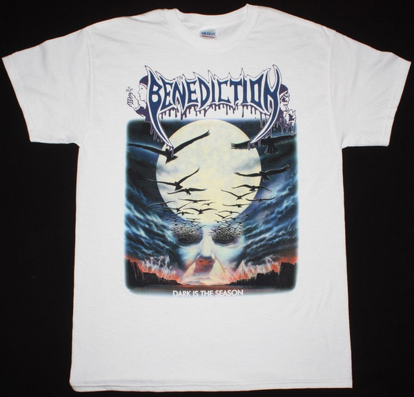 Benediction Dark Is The Season Death Bolt Thrower Solstice New White T Shirt Hot New 2018 Summer Fashion T Shirts