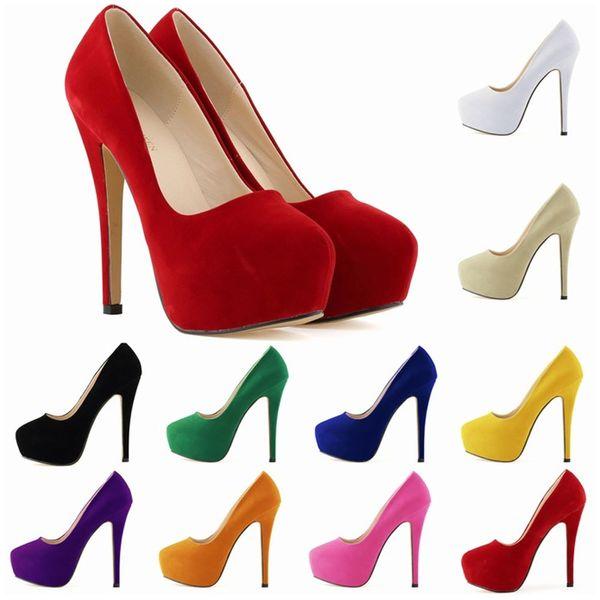 Women Luxury Brand Red Bottom High Heels Sexy Waterproof Platform For Women Wedding Dress Pumps Shoes US4-11 D0243