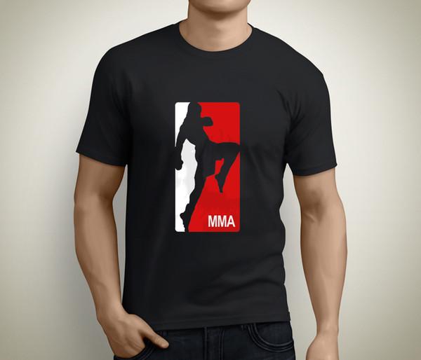 MMA CLÁSSICO LOGOTIPO Boxe Boxe Luta UFC Strike Force Preto T-Shirt Tamanho S-5XL 2018 Engraçado Tee Camisas Bonito T Homem 100% Algodão Legal