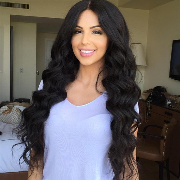free Shipping Long Body Wave Lace Front Human Hair Wigs With Baby Hair Heat Resistant Glueless Brazilian Full Lace Wigs for Black Women