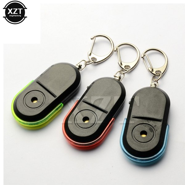 newest 1pcs Old People Anti-Lost Alarm Key Finder Wireless Locator Keychain Whistle Sound LED Light Tracker high quality hot
