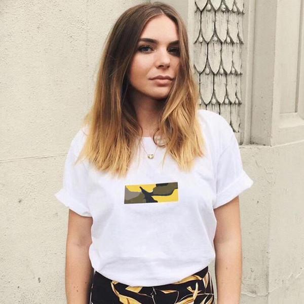 17AW S Brooklyn Box Logo Tee White Color Limited Short Sleeve Camouflage T-shirt Men Women Couple Fashion HFLSTX024