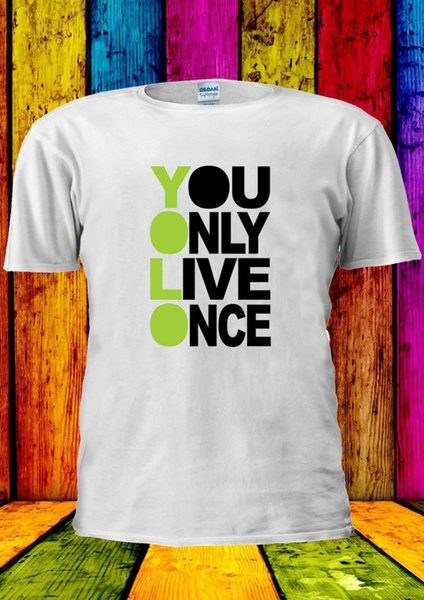 YOLO You Only Live Once Cool T-shirt Canotta Canotta Uomo Donna Unisex 2203 Cool Casual organza t shirt uomo Unisex New Fashion