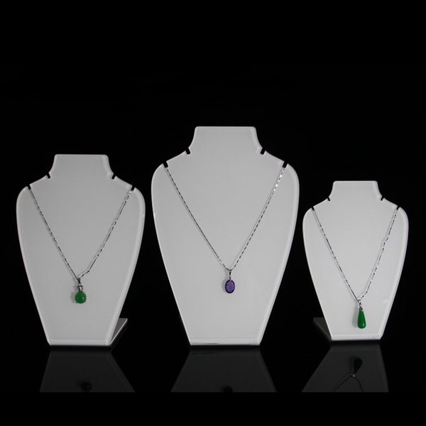 Acrylic Pendant Necklace Display Stand L Shape Jewelry Chain Pendant Charm Necklace Displays for Kiosk Trade Show Shop Showcase Set of 3