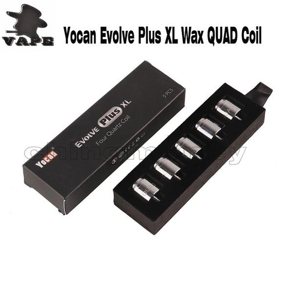 Authentische Yocan Evolve Plus XL Wachsspule Quad Quatz Spulenkopf Reiner und sauberer Dampf 100% Original