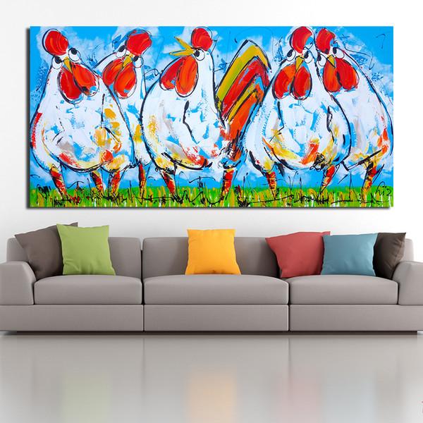 Acheter Le Coq Grande Taille Moderne Mur Photos Pour Salon Peinture Peinture Murale Photo Toile Art No Frame De 25 52 Du Framedpainting Dhgate Com