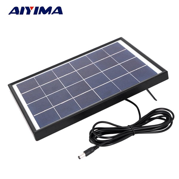 Batteries Cells, Panel AIYIMA 6V 6W PolyCrystalline Solar Cells Solar Panel Battery Charger For Caravan Boat Power Applied To DC