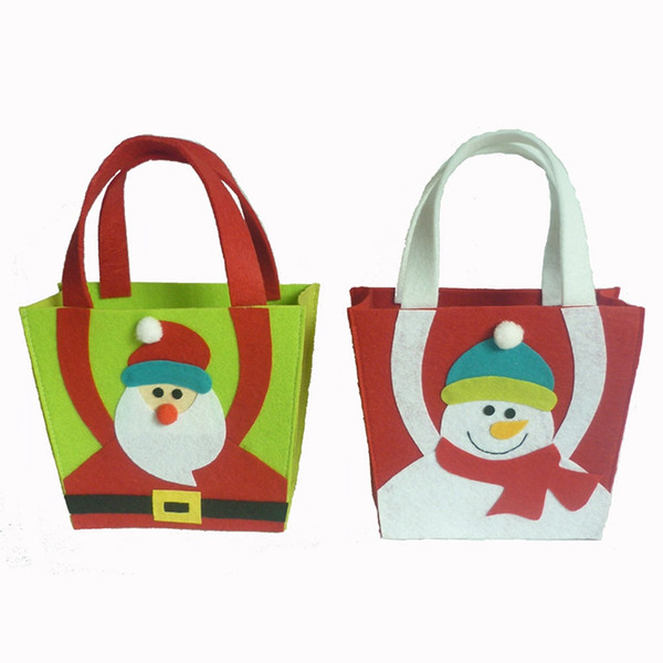 2018 Hot Sale New Santa Claus Gift Bags Merry Christmas Candy Bags Christmas Gifts 19X16.5X8CM