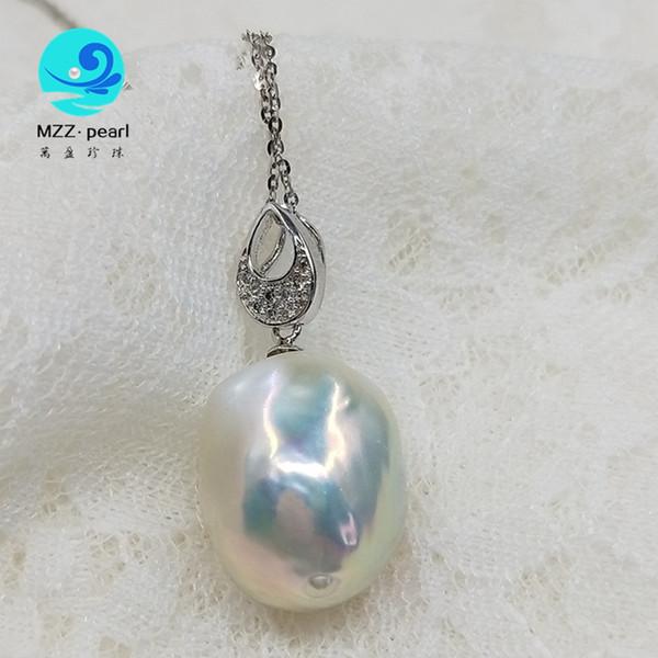 Wholesale 3 Pcs 16 mm NOIR BLANC JAUNE NACRE coquillage perle pendentif