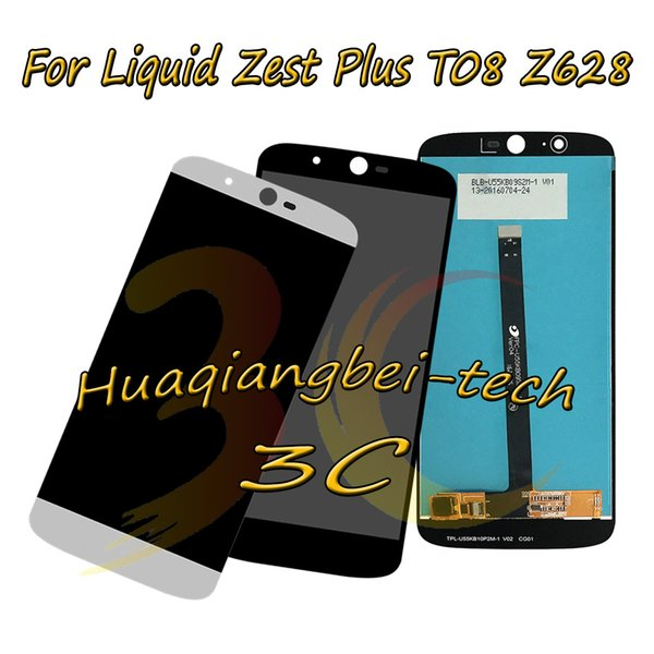 New 5.5'' For Acer Liquid Zest Plus T08 Z628 Full LCD DIsplay + Touch Screen Digitizer Assembly Black / White 100% Tested