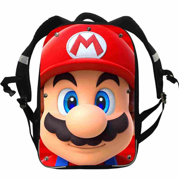 Super Mario Backpacks Animal Anime Starry Night Penguin Bear Boys Girls Teenager School Bags Box Lunch Pencil Case