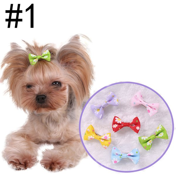 9 Styles 3.5cm Bowtie Pets Clips Hair Accessories Grooming Gift Products Cute Dogs Ornaments Supplies