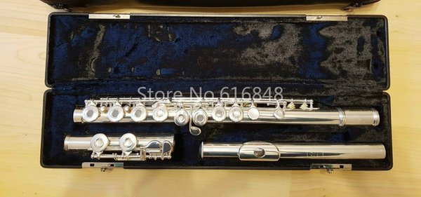 Gemeinhardt 3OS Brand 16 Keys Flute Cupronickel Silver Plated C Tune Flute Holes Open Musical Instrument Flauta Free Shipping