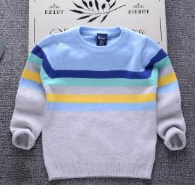 HAN SHAO Boys striped pullovers single-layer cotton children's sweaters Japanese children thin sweater