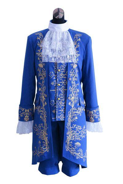 Prince de haute qualité costume cosplay Prince Costume Halloween Cosplay Costume Manteau + chemise + pantalon
