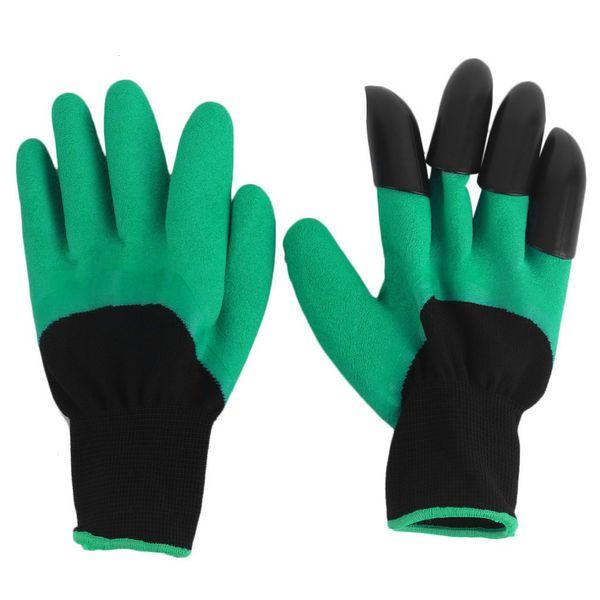 Antiestático, a prueba de agua, guantes para el hogar de jardínDig Plantación ABS Garras Protector carpintero trabajador de la construcción Guante