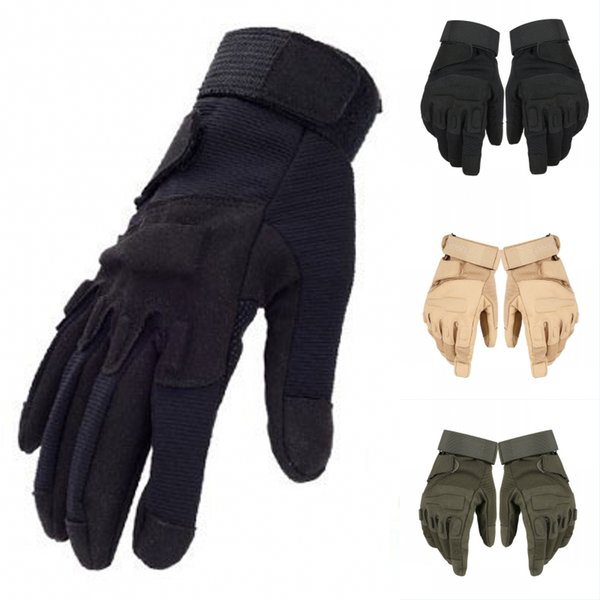 Full Finger Outdoor Gloves Military Assault Tactical Gloves Sports Hunting Cycling Motorcycle Protective Non-Slip Mitten Warms For Men G697F