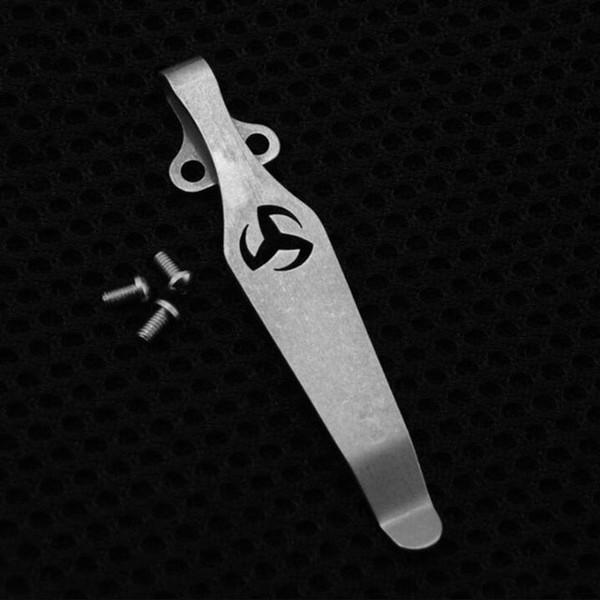 Conception de Sharingan bouton de couteau Diy couteau matériel TC4 alliage de titane couteau Clip ceinture lampe de poche K gaine