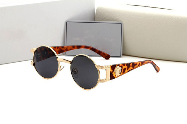 top popular 1pcs High quality Classic Pilot Sunglasses Designer Large Metal Sun Glasses For Men Women Silver Mirror 58mm 62mm Glass Lenses UV Protection 2019