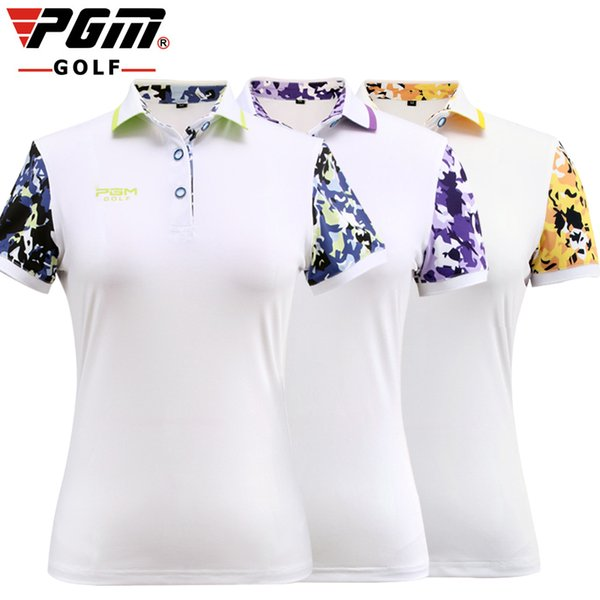 PGM 2017 New golf skirt women's skorts lady summer Short sleeves Quick dry T shirt golf apparel sports game set-clothes 3 colors