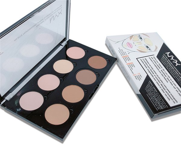 NYX Highlight Contour Pro Palette Powder Shadow Foundation Face Palette Full Size In Box 8 colori ombra trucco comestic