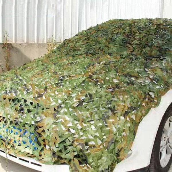 Camping Camouflage Net Army Camo Net Car Covering Tent Hunting Blind Netting Jungle/Desert/White Cover Conceal Drop