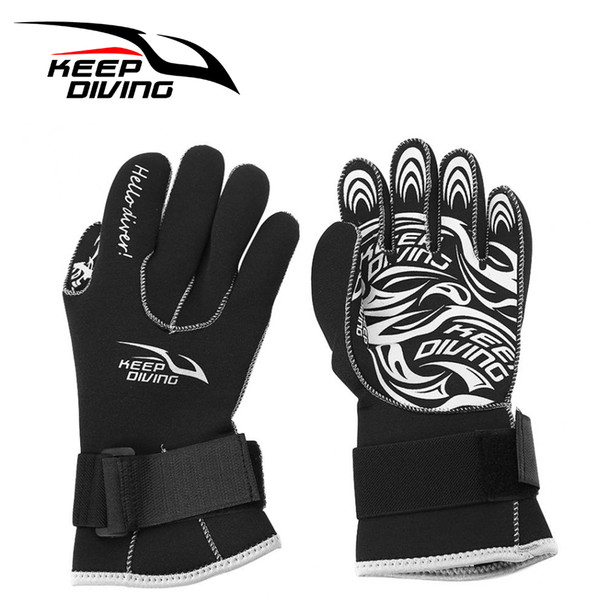 KEEP DIVING 3MM Neoprene Swimming Gloves Scuba Snorkeling Equipment Anti Scratch Keep Warm Swim Fishing Gloves Accessory Kit