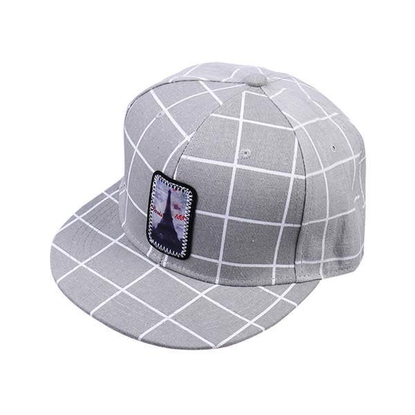 XYKGR Sombrero de mujer Bordado a cuadros Sombrero plano Hombres Ocio Ocio  Hip Hop Gorra de 667dcabcfd8