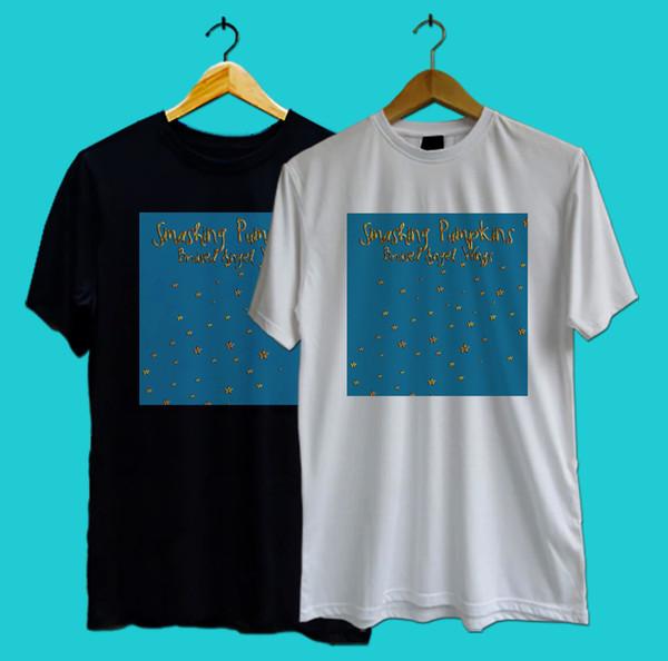 New SMASHING PUMPKINS ANGEL WINGS CHERUB STAR Black And White T-Shirt TEE XS-3XL
