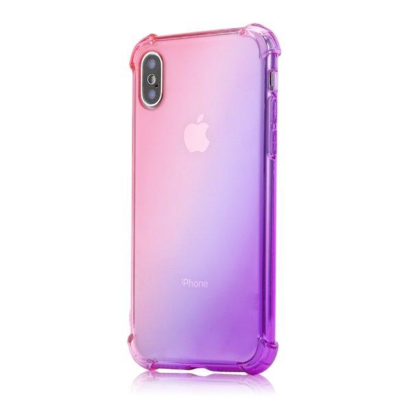 Gradient Colors Anti Shock Airbag Soft Clear Cases for IPhone XR XS MAX 8 7Plus 6S 7 Plus I Phone 8plus 7 Plus Cradle Design