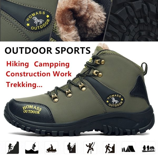Winter Men Mountain Climbing Boot with Thermal Protection and Cold-proof Functions Safety Work Shoes Snow Boots Waterproof Outdoor