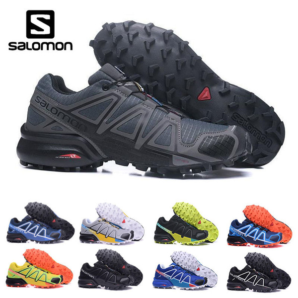 Cheap sale Salomon Speed Cross 4 CS IV Men Running Shoes Outdoor Walking Jogging Sneakers Athletic Shoes SpeedCross 4 sports Shoes eur 40-46