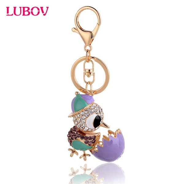 2018 Luxury Cock Keychain Key Chain & Key Ring Holder Keyring Porte clef Gift Men Women Souvenirs Bag Pendant Car 5 colors