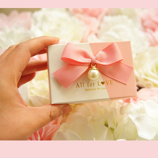 wedding favour boxes party favor holders candy chocolate box eleghant pink for baby shower package 50pcs lot free shipping