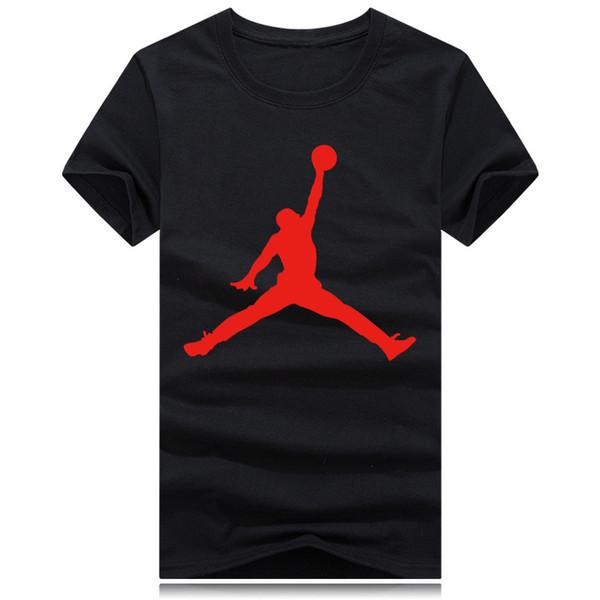 En gros Nouveau Basketball sport col rond T-shirt Marque De Mode Hommes Femmes à manches courtes T-shirt drôle coton impression hommes cool t-shirt