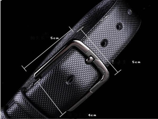 Big large buckle genuine leather belt with box designer belts men women high quality new men's belts luxy belt free shipping A4