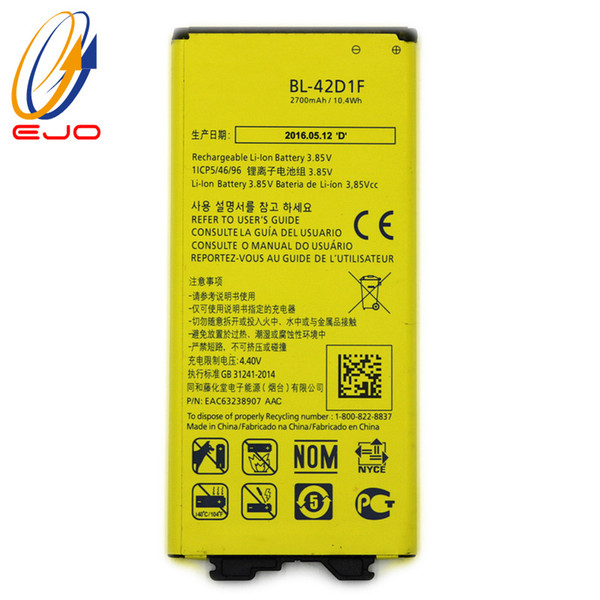 best selling Battery For LG G5 4.35V 2700mAh High Quality Li-ion Replacement Batteries For lg g5 H820 H830 H850 LS992 VS987 US992 akku