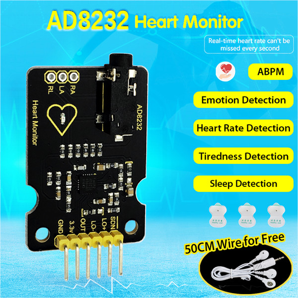 Keyestudio Ad8232 Ecg Measurement Heart Monitor Sensor Module For Arduino Uno R3 Automated Home Best Home Automation From Phonebuy 47 49 Dhgate Com