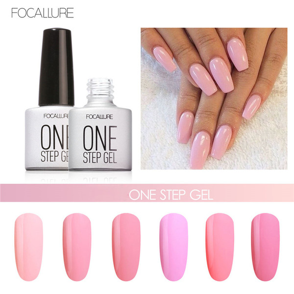 Focallure Brand Makup 1pcs Nail Polish Art Kit Waterproof UV Pink Series One Step Nails Gel Polish Professional